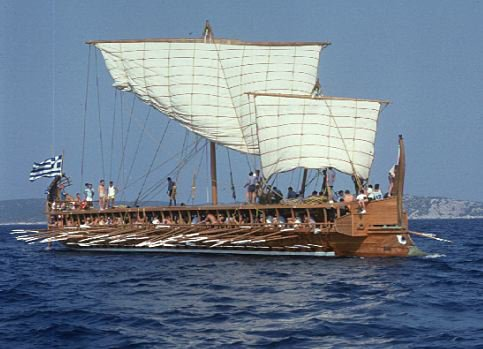The famous Trireme-an ancient mediterranean warship