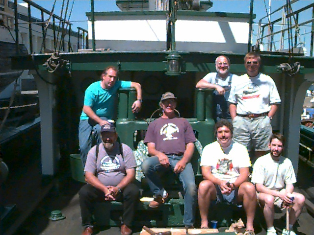 Lee & Larry inspecting vessels with 2001 Class