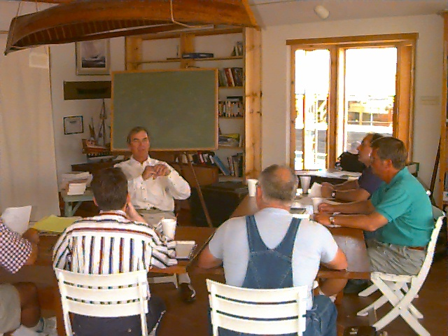 Lee teaching at Center For Wooden Boats with 2001 Class