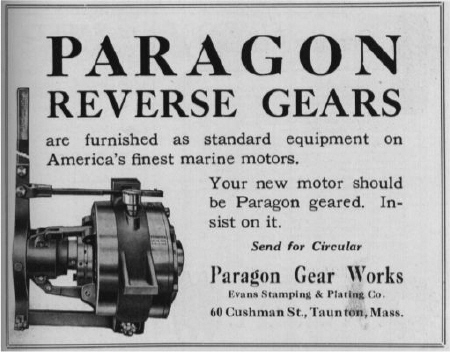 Paragon Reverse Gears ad from 1917-1918 Motorboat Directory