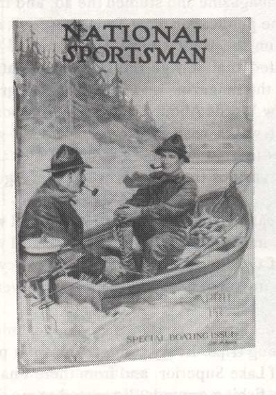 Front cover of the April 1916 issue of the National Sportsman. Note that it is the Special Boating Issue.